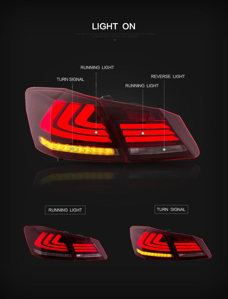 Honda accord taillight taillamp tail lamp light