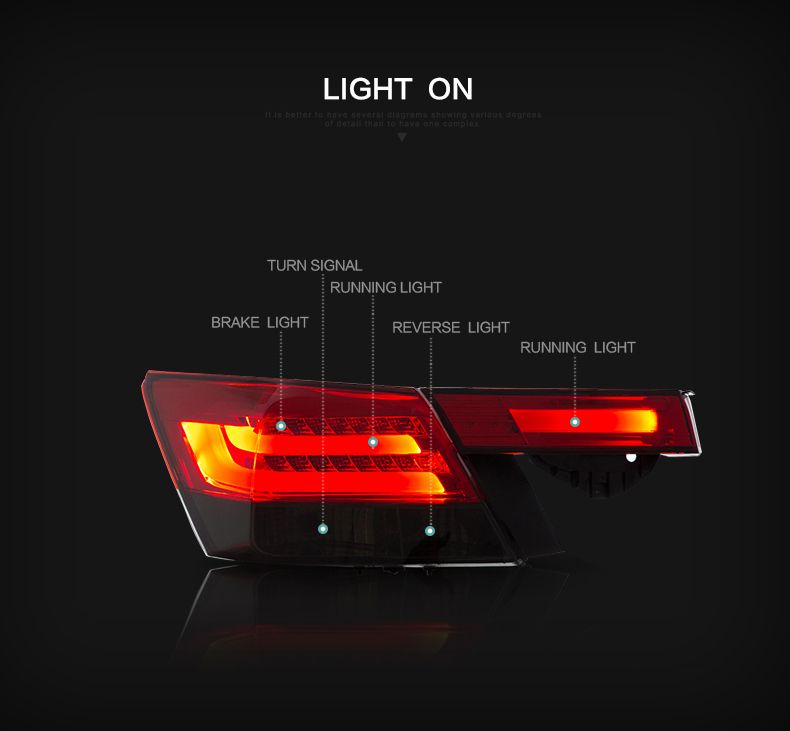 Honda accord tail light lamp taillight taillamp