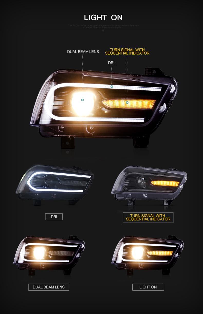 Dodge charger head light lamp headlight headlamp