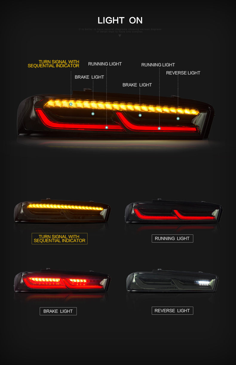 chevrolet camaro tail lamp light taillight taillamp