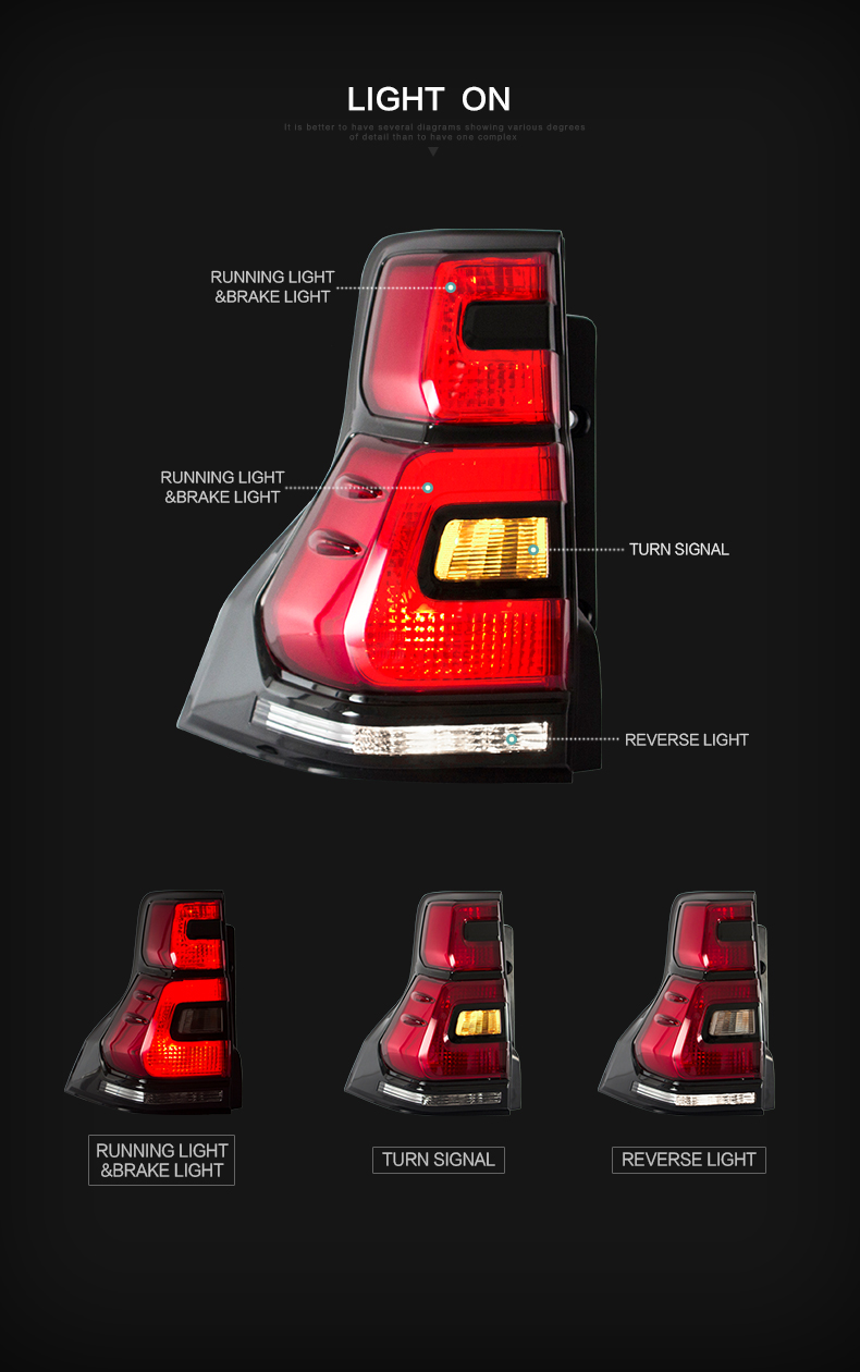 toyota prado taillight taillamp tail lamp light