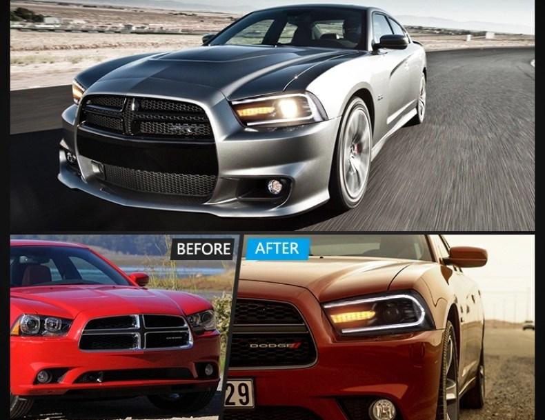 dodge charger headlights qatar