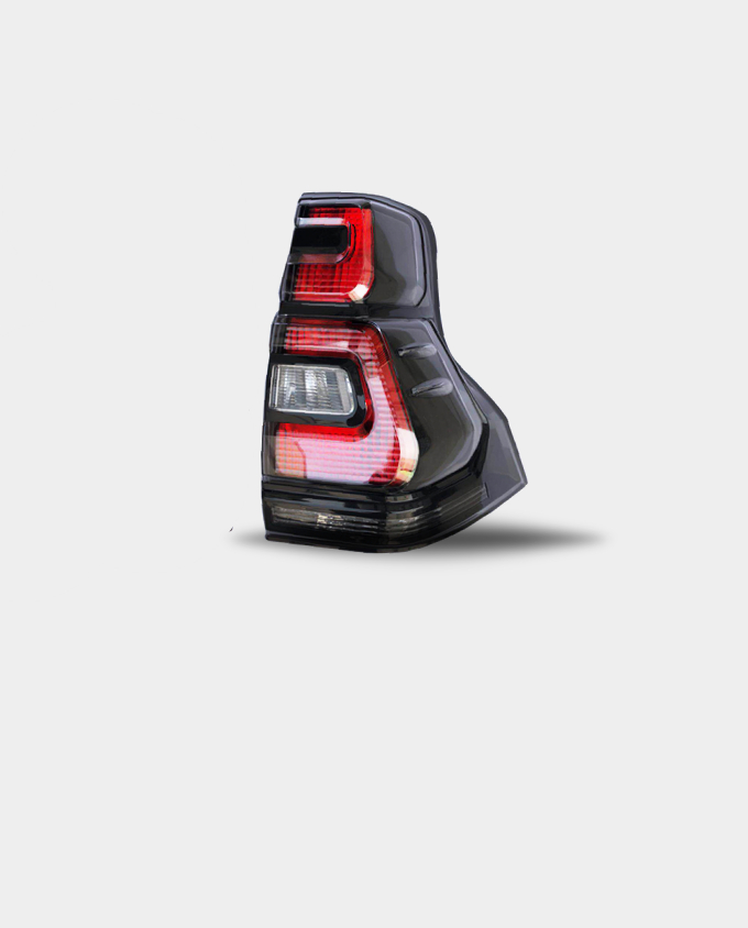 toyota prado tail lights qatar