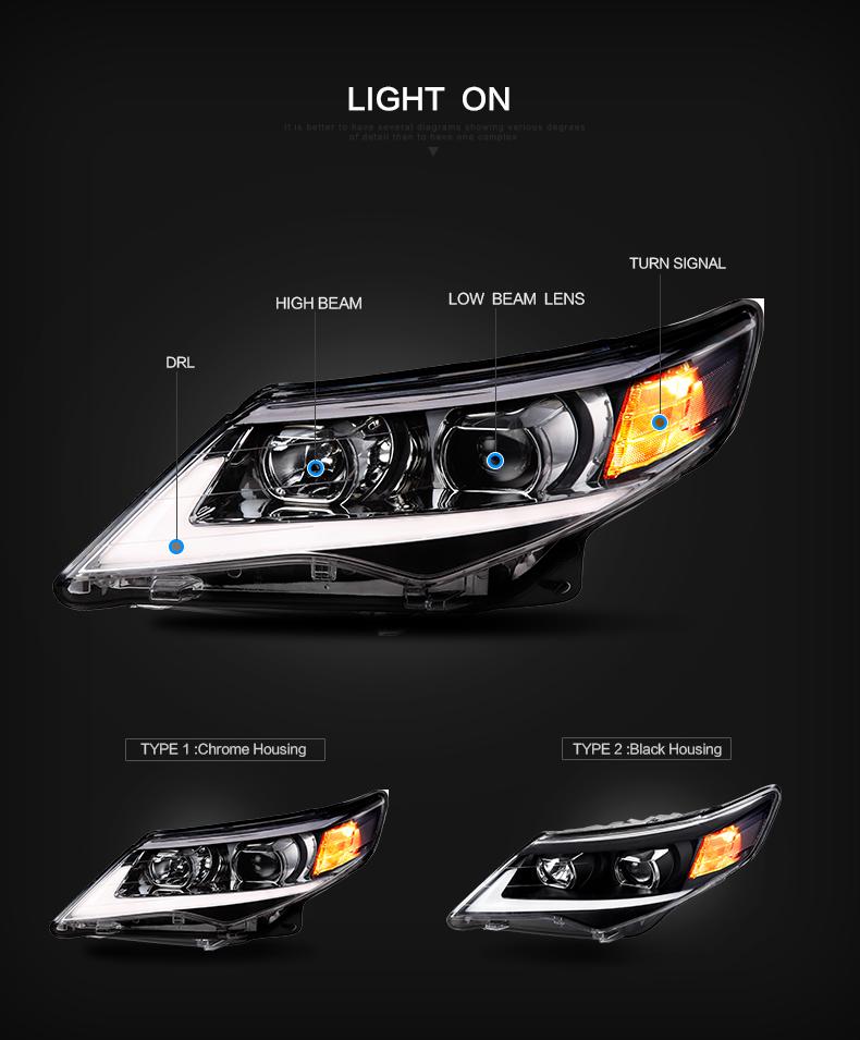 toyota camry head lamp light headlamp headlight