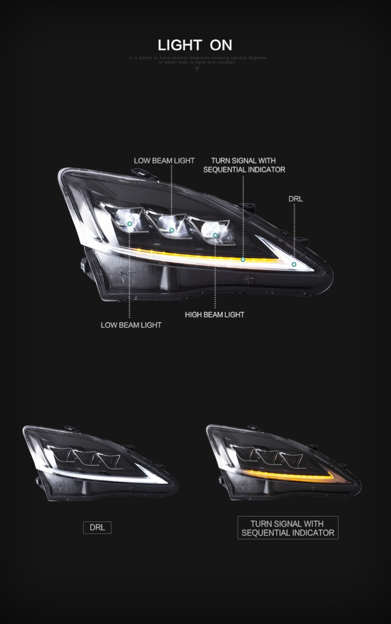 lexus is250 is350 is 250 is 350 head light headlights qatar