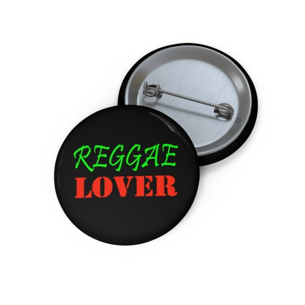 Reggae Lover button pin