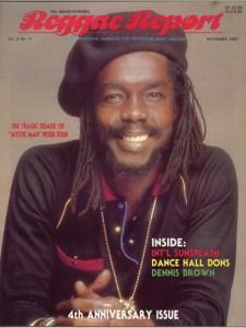 Peter Tosh 1987 Reggae Report Cover