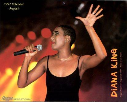 Diana King - August 1997 Reggae Report Calendar