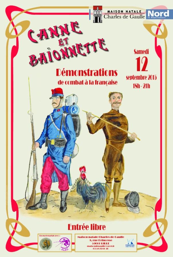 Affiche canne  baïonnette (dernière version)