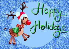 Weihnachtskarte Rentier Freebie Blogartikel