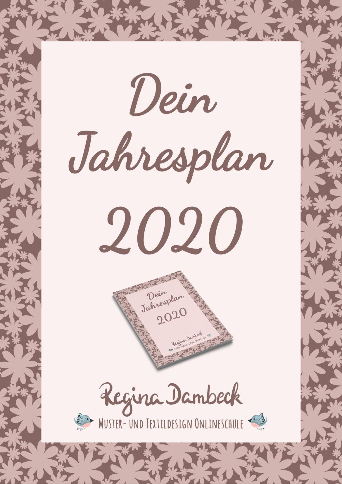 Jahresplan 2020 Regina Dambeck Musterdesign Onlineschule