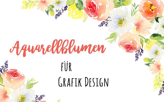 Aquarellblumen für Grafik Design Onlinekurs Regina Dambeck
