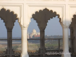 View of Taj Mahal from Red Fort in Agra