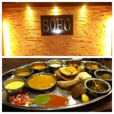 Pune restaurants - Soho and Rajdhani Thali