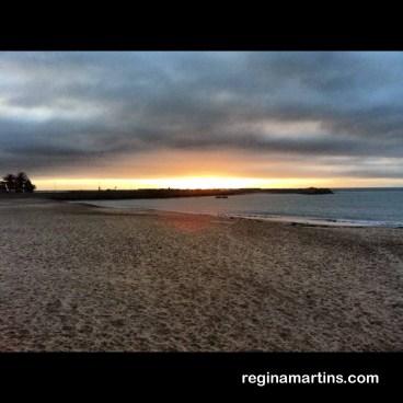 Swakopmund sunset - Main Beach and The Mole