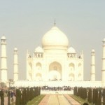 The white brilliance of the Taj Mahal