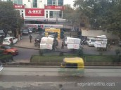 Two-wheeled non-motorised delivery convoy in New Delhi