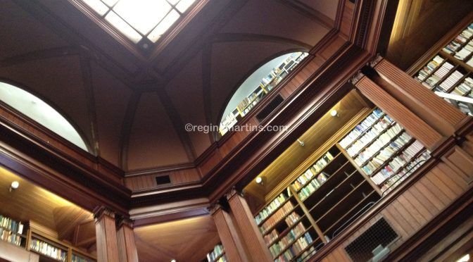 The library at the South African Parliament buildings in Cape Town