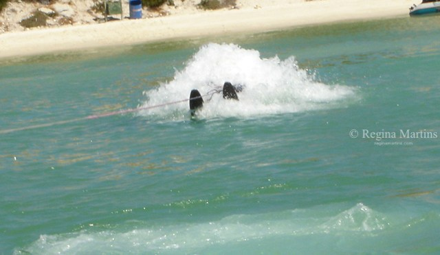 Learning to waterski…wipe-out!