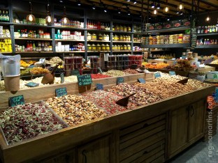 Sarona Market - piles and piles of dried fruits and nuts ©2016 Regina Martins