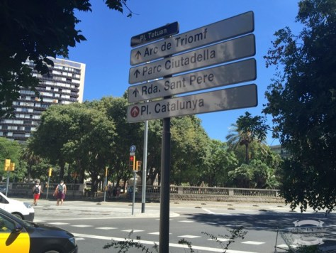Walking around Barcelona without a city guide, relying on street signs ©2016 Regina Martins