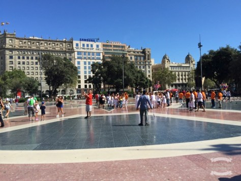 Plaza Catalunya, such a shiny floor ©2016 Regina Martins