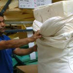 Flame retardant-containing foam. The old foam will be disposed of safely, and replaced by new, flame retardant free foam. Foam Order is one of five furniture stores participating in Safer Sofa Foam Exchange, a program launched by Green Science Policy Institute.