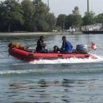 Schlauchbootfahrt zu 2 mit Hund
