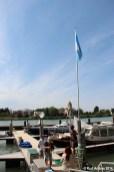 Flaggentaufe mit in leichter Brise
