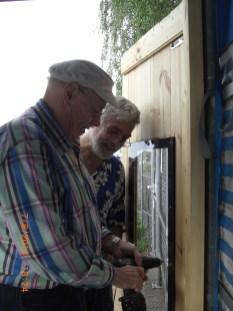 Türfenstermontage auf Moosgummi