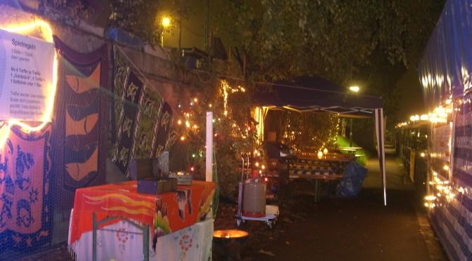Nachtbeleuchtung Regioboot Stand Hafenfest
