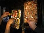 vegetarischen Spiesse und Filetmedaillons