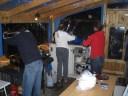 Nächtliche Abwasch und Putzarbeiten auf Steg 2