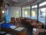 Chinarestaurant Weil, Galerie 1.OG, dekoriert mit Regioboot Flagge + Fähnchenkette