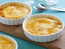 zum Dessert Crema Catalana und Melone