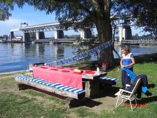 03.10.15 Vorbereitung Picknick am Stauwehr Märkt