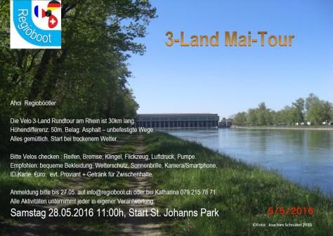 Einladung 3-Land Mai-Tour 28.05.2016