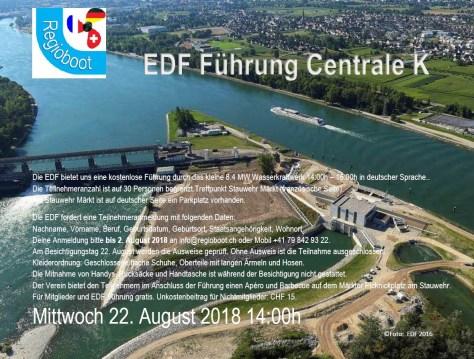 Centrale K, Flyer EDF Führung