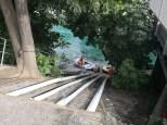 Abseilrampe Schlauchboot SW-Ecke Regiebrücke Thun
