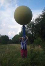 Planetenweg Sonnenmodell in Huningue