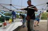 Rettung des Partyzeltes 3 x 6m in Sturmboen. Gelungene Bergung des Zeltes mit 8 Personen
