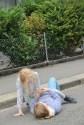 gemütliche Plauderei auf der Strasse