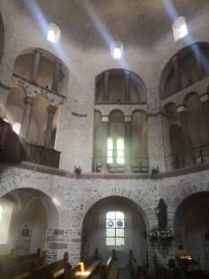 Oktogon Innenraum der Abteikirche Ottmarsheim