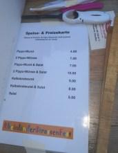 Preisliste Wurst- und Salate