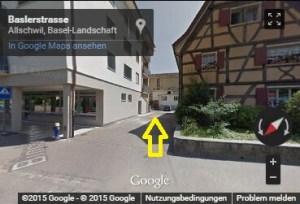 Streetview mit Pfeil
