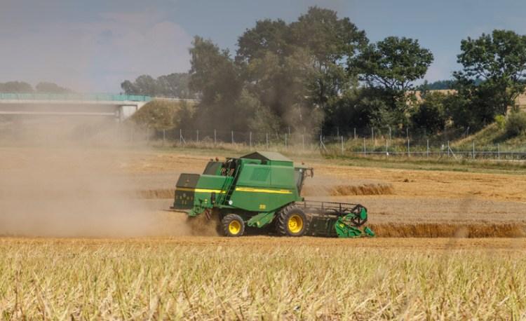 Landwirtschaft, Mähdrescher im Einsatz