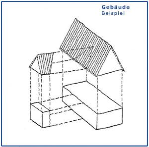 Gebäudeformen als Strichzeichnung, Baukultur im Schönburger Land