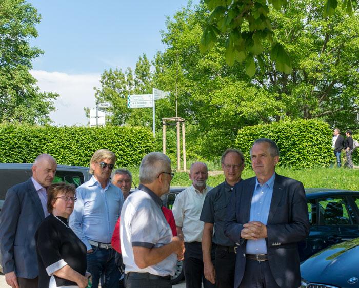 Staatsminister Thomas Schmidt zu Besuch im Schönburger Land, Grünfelder Park