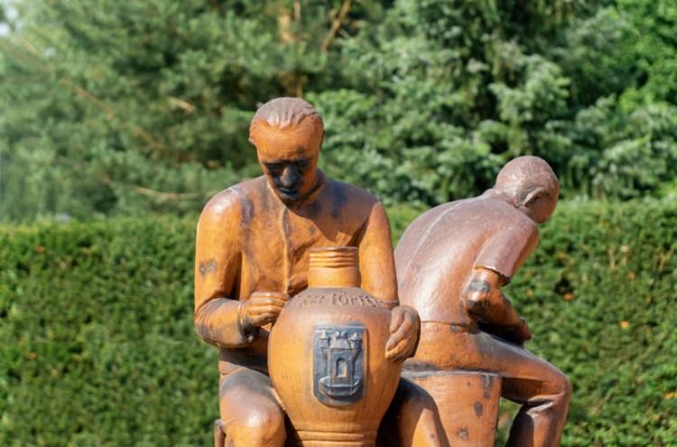 Töpferplatz in Waldenburg, Künstler: Walter Richter