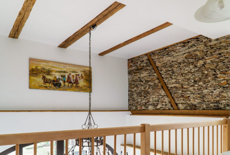 Freigelegtes Mauerwerk im Innenraum